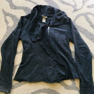Miken Asymmetrical Collar Zip Up Jacket